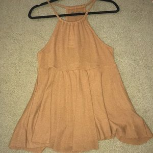 Urban outfitters orange halter tank